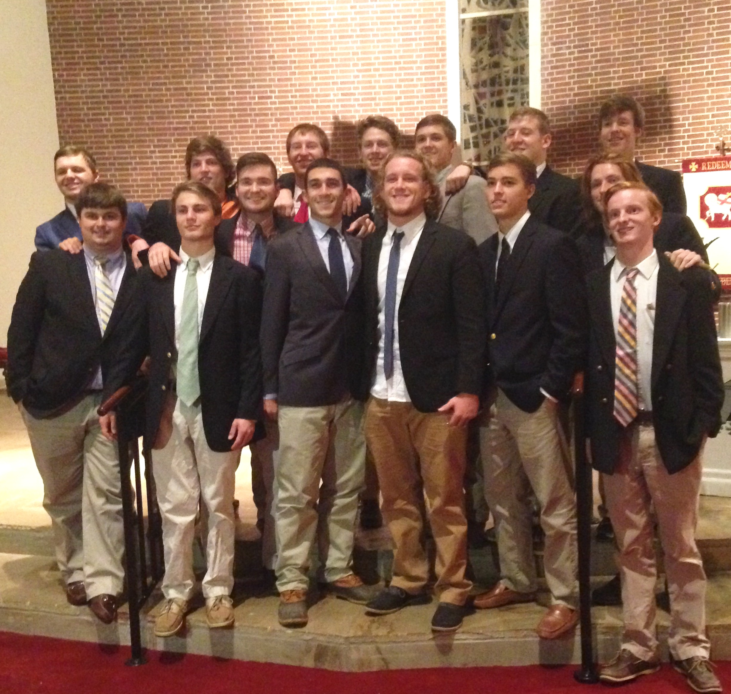 Delta Epsilon inducts 15 new Brothers
