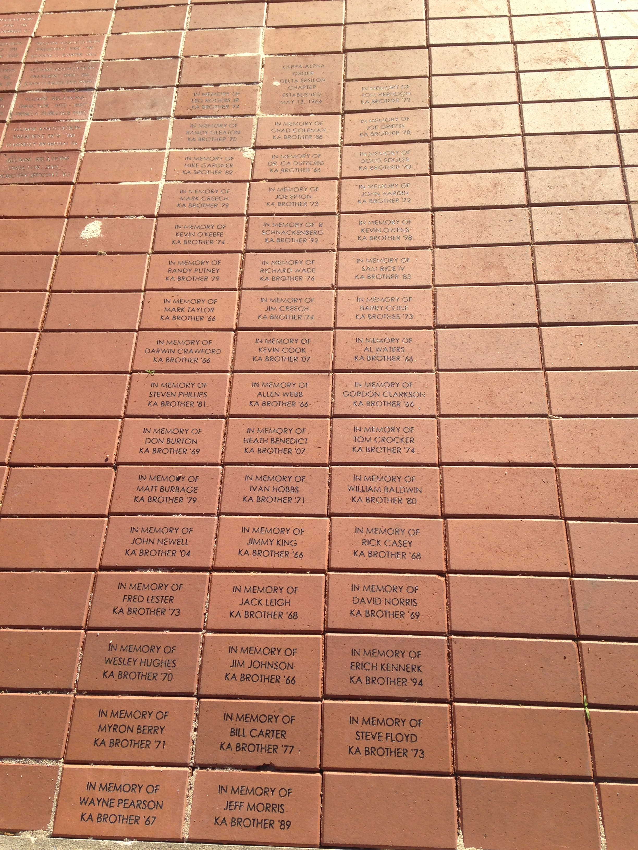 KA Commemorative Brick Project at College